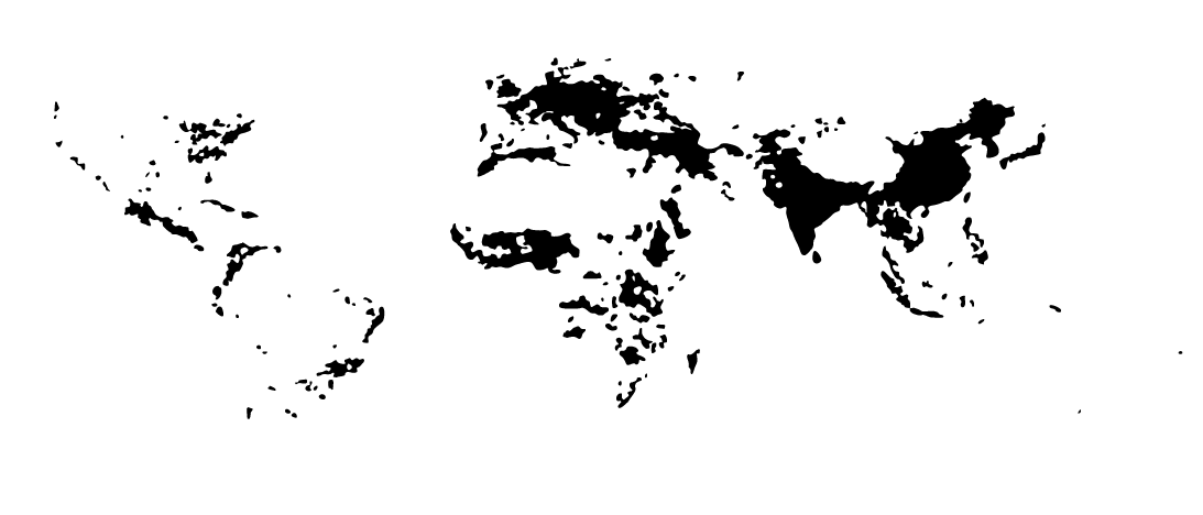 WORLD MAP: Population Density Per Square Km