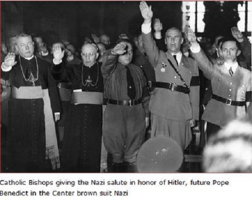 FLASH PHOTO: Catholic Bishops Give NAZI Salute, Notice Pope Benedict at Center