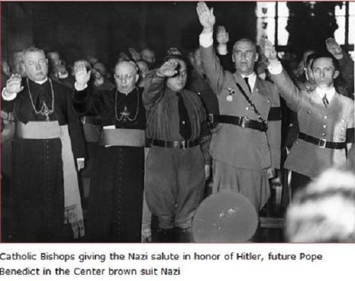 FLASH PHOTO: Catholic Bishops Give NAZI Salute, Notice Pope Benedict at Center