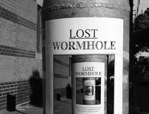 LOST WORMHOLE: Space/Time Continuum in Danger