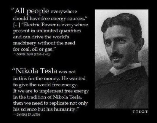 Nikola Tesla: All People Everywhere Should Have Free Energy Sources