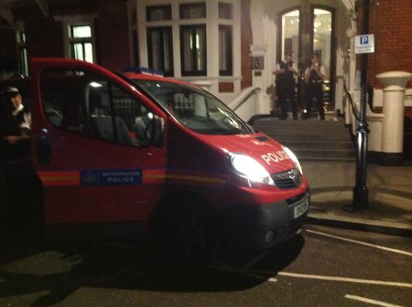 UPDATE: Ecuadorian Embassy Completely Surrounded In Anticipation of Asylum Announcement Announcement by Raphael Correa