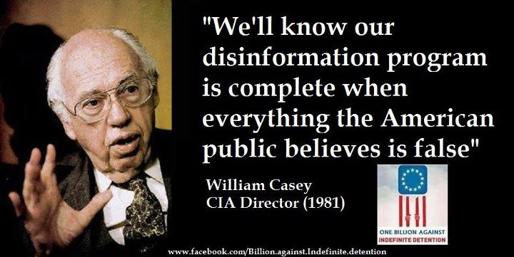 Former CIA Director William Casey Quoted on Decieving American Public