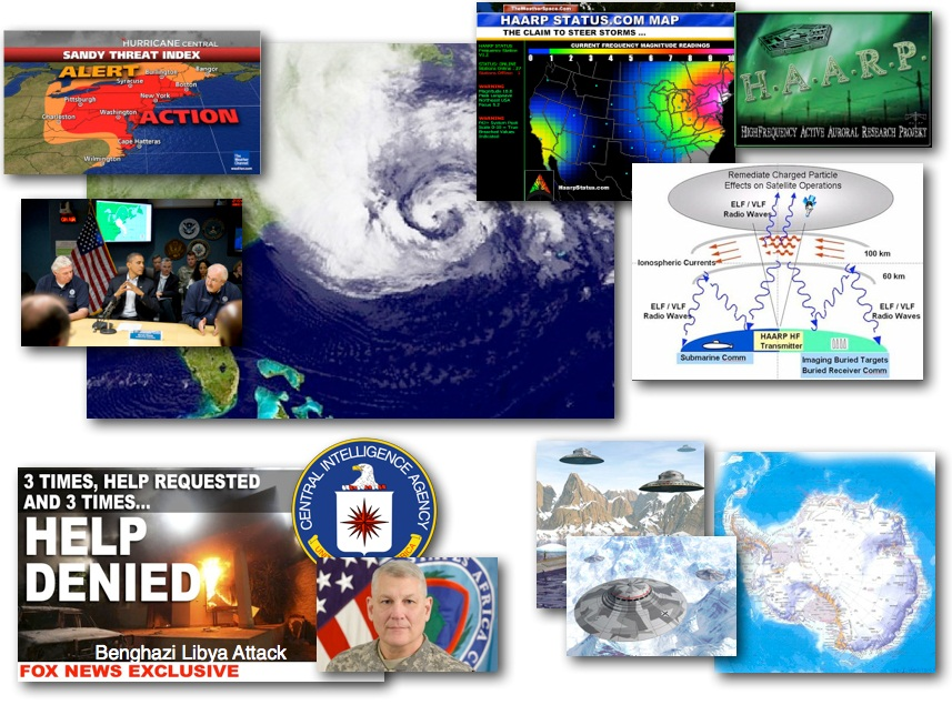 October 29, 2012 – DCMX Radio: HAARP Hurricane 'Sandy' Inbound, HAARP History and Evidence Review, Rogue General Arrested, Antarctic UFO Activity