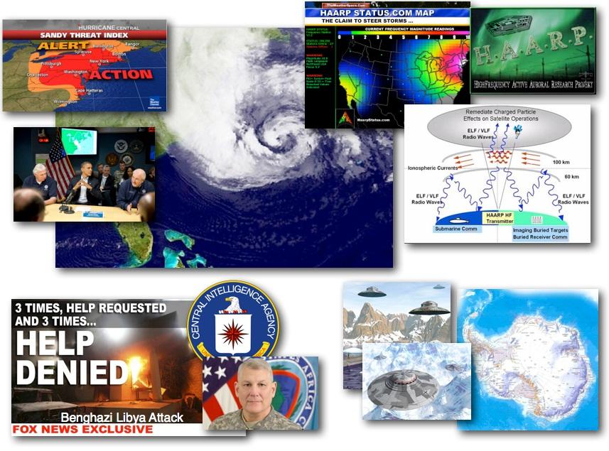 October 29, 2012 – DCMX Radio: HAARP Hurricane 'Sandy' Inbound, HAARP History and Evidence Review, Rogue General Arrested, Antarctic UFO Activity