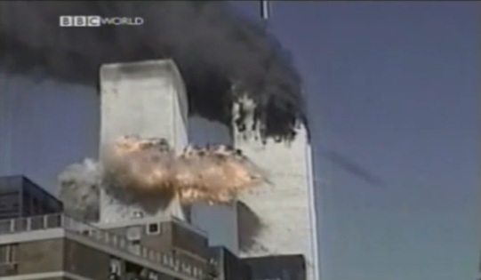 9/11 Plane or Missle That Hit WTC 2 – Slow Motion