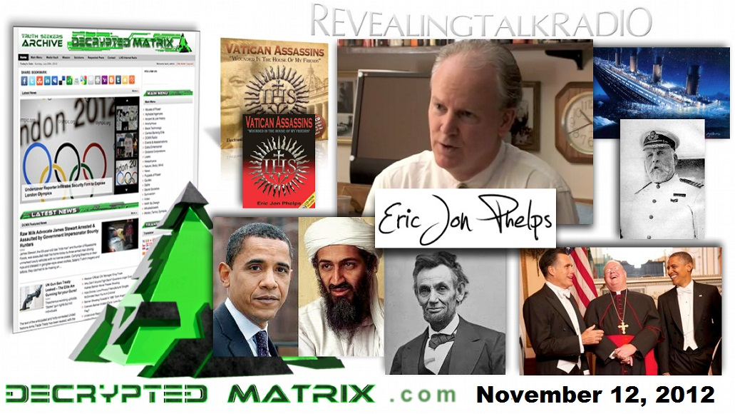 November 12, 2012 – DCMX Radio: Eric Jon Phelps on the Jesuits Part II (Exclusive)