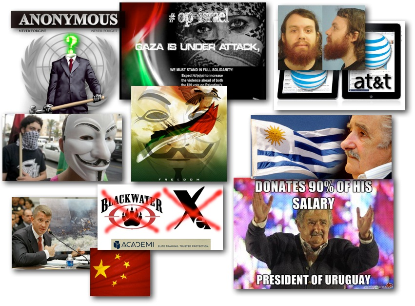 November 21, 2012 – DCMX Radio:  Anonymous on Gaza & Israel War Crimes, AT&T iPad Conviction, Blackwater CEO's New Biz, Random Headlines, Uruguay President Charity