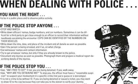Remeber your rights when dealing with Police!