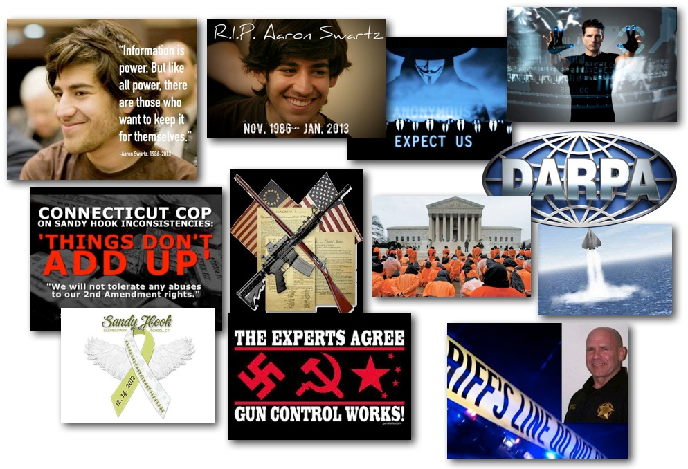 January 14, 2013 – Decrypted Matrix Radio: Aaron Swartz Patriot's Tribute, No Gun Confiscation in KY, DARPA's Sunken Sea Drones, Minority Report Goes Live, More Sandy Hook Questions Arise