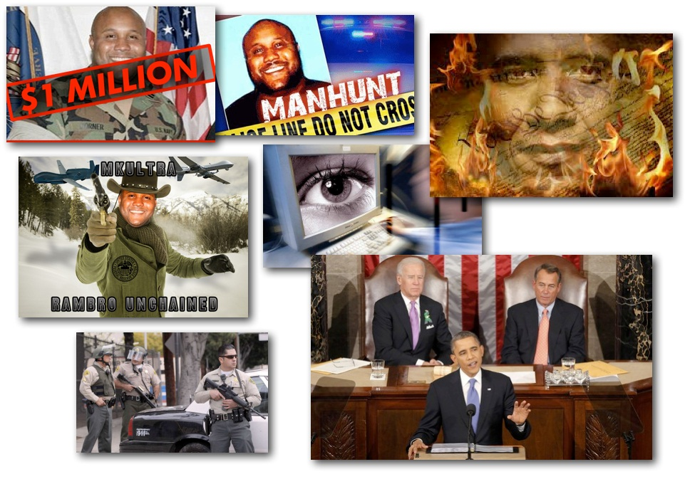 February 13, 2013 – Decrypted Matrix Radio: Dorner Manhunt Exposed, LAPD Gangland Thugs, Drone Lobbyists, Executive 'Cyber' Order, State of the Union Quackery
