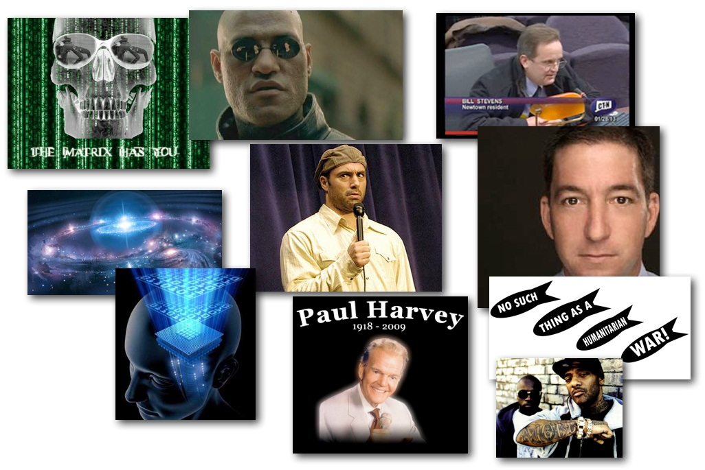 February 5, 2013 – Decrypted Matrix Radio: You've Felt It.. Joe Rogan's American Ideal, The Holographic Reality, Humanitarian 'Wars', Paul Harvey Thoughts, Charlie Chaplin Speech