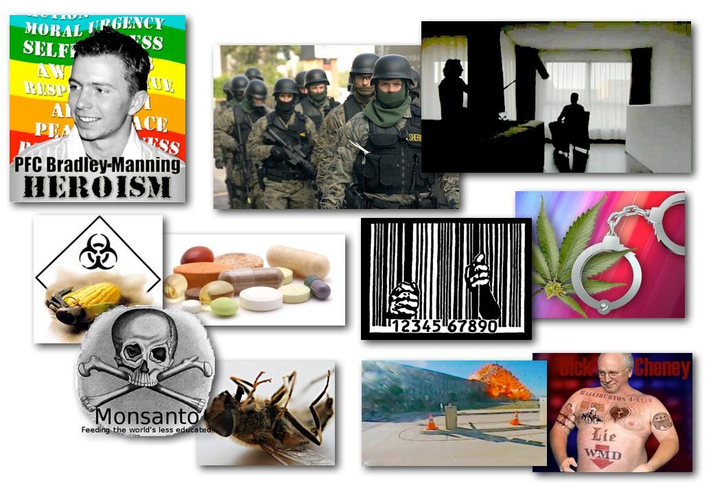 March 12, 2013 – Decrypted Matrix Radio: Brad Manning Audio Leak, Police State Expert Speaks, Prison Industry Profiting, GMO Vitamin Warning, Liar Cheney, Monsanto's Bees