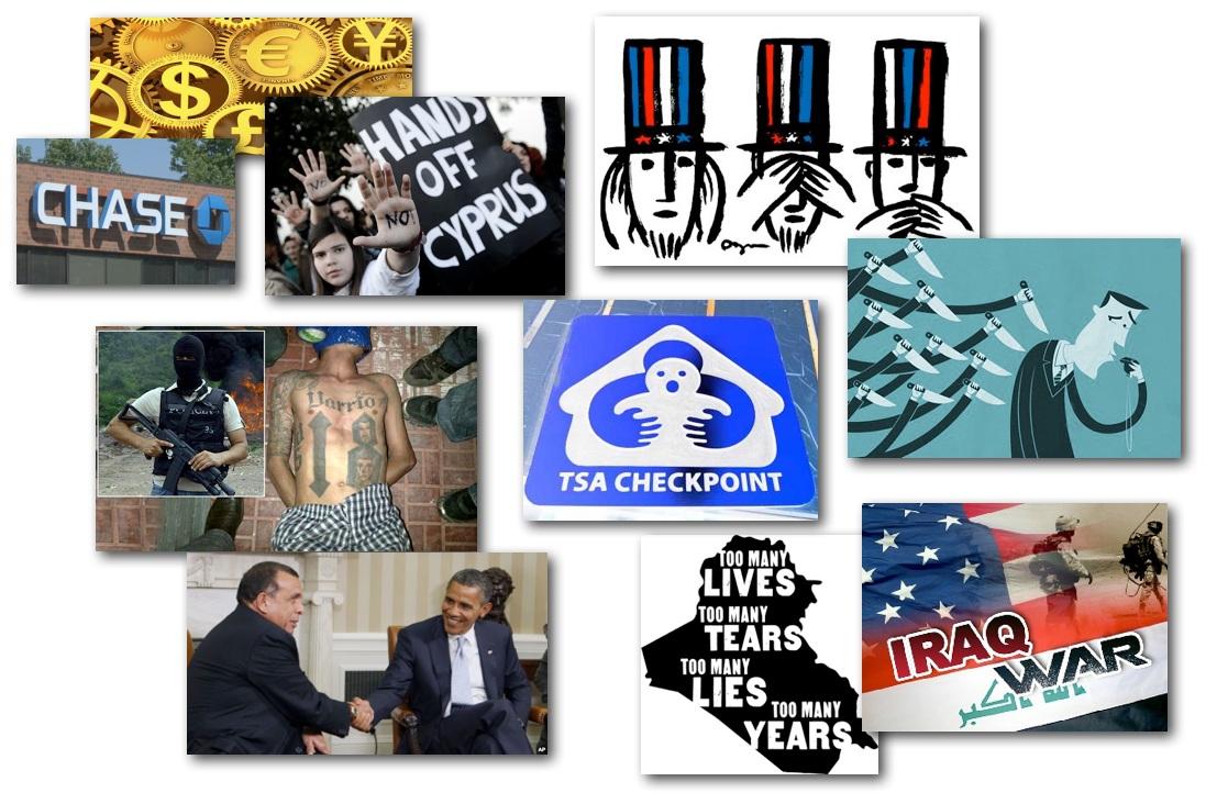 March 19, 2013 – Decrypted Matrix Radio: Cyprus Debt & Theft, Chase Zero's Out, TSA Humiliates, Honduran Corruption, 10yrs In Iraq, NYPD Violates, Light on Whistleblowers