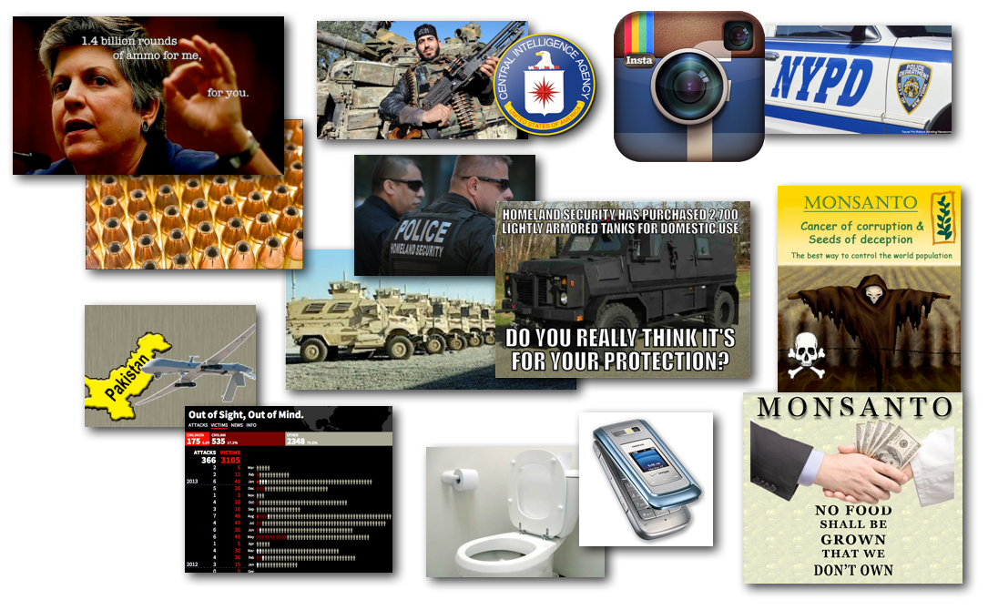 March 25, 2013 – Decrypted Matrix Radio: NYPD goes Social, Monsanto Protectors, DHS Police State, Money Warnings, Drones InfoGraphic, Syrian Rebels, Cellphones & Toilets