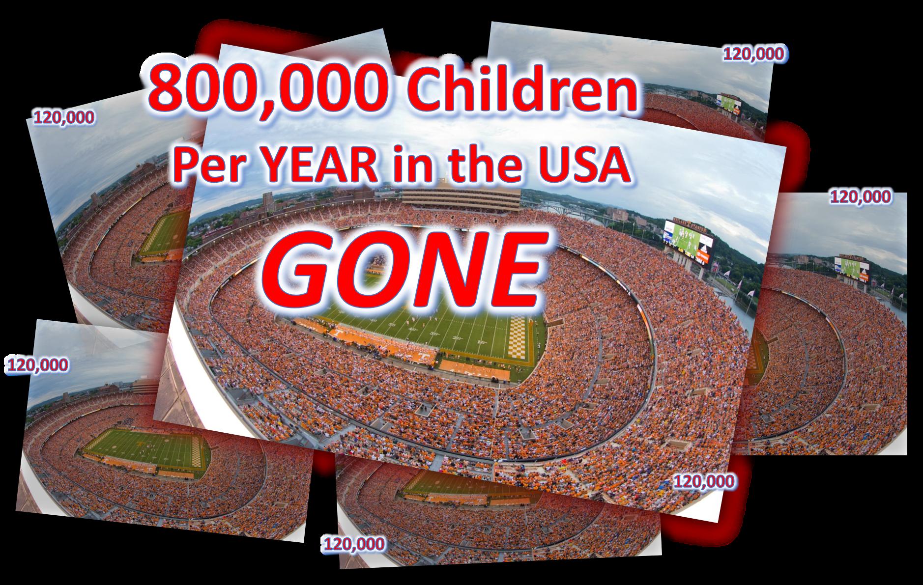 ~120,000 per Stadium X 6