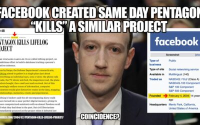 Facebook is Likely Just the DARPA LifeLog Project Re-Named